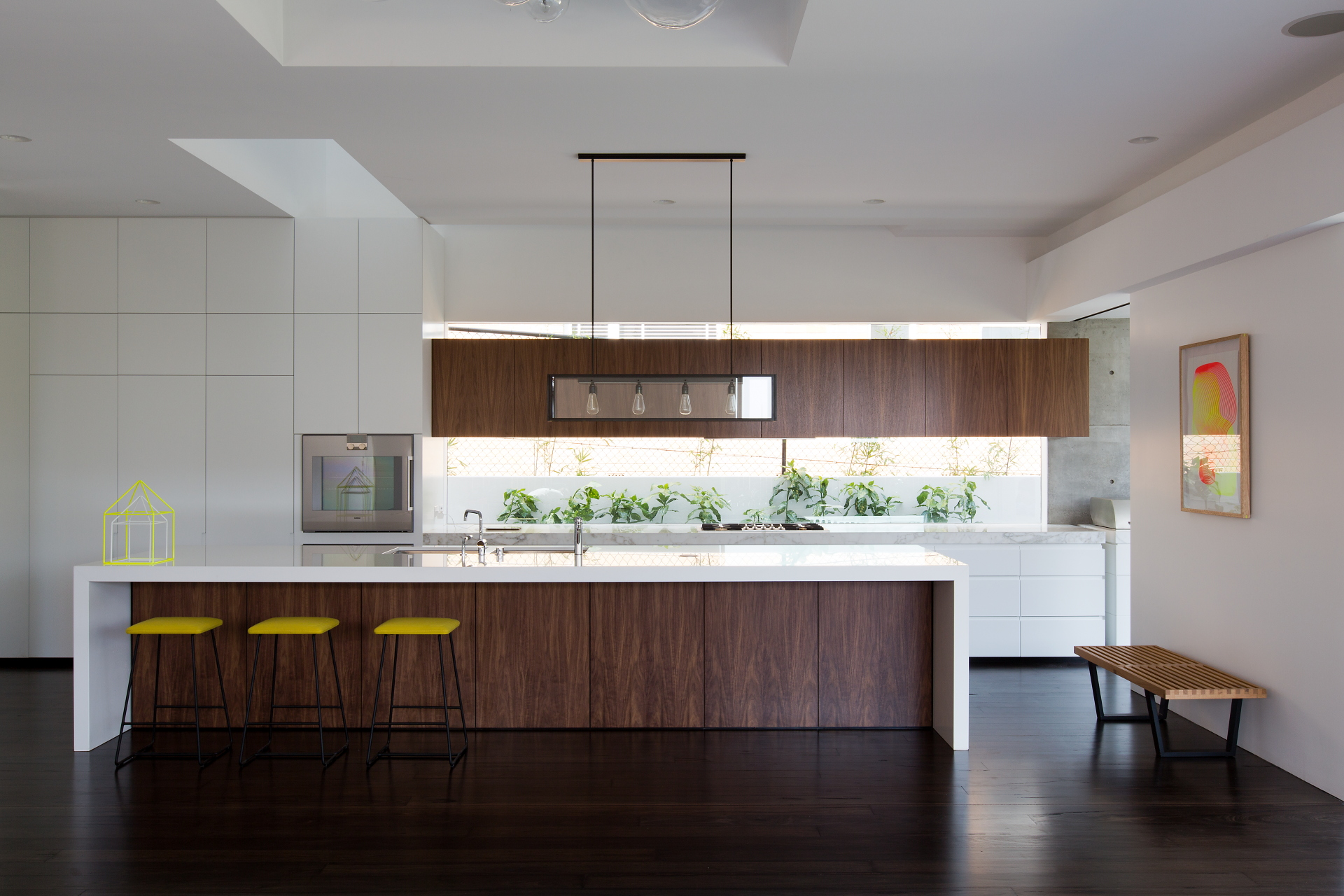 Realised in their choice of smartstone bench tops and kitchen island