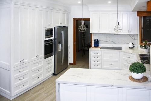 countertops, kitchen worktops in Smartstone Calacatta Blanco