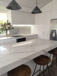 countertops, kitchen worktops in Smartstone Calacatta Blanco