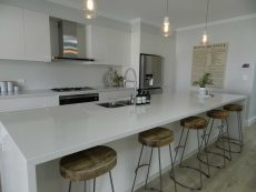 kitchen quartz countertop in Carrara