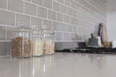 quartz kitchen benchtop in Smartstone Arcadia