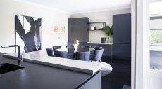 kitchen benchtop in Smartstone Statuario Venato
