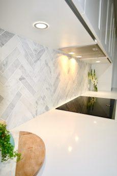 kitchen benchtop in Smartstone Nieve White