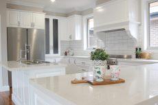 kitchen benchtop in Smartstone Santorini