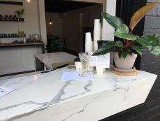 coffee bar in Smartstone Statuario Venato