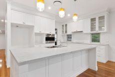 kitchen quartz countertop in Smartstone Athena