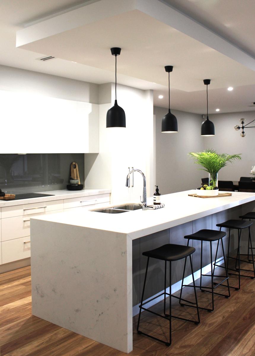 Carrara Marble Kitchen Island