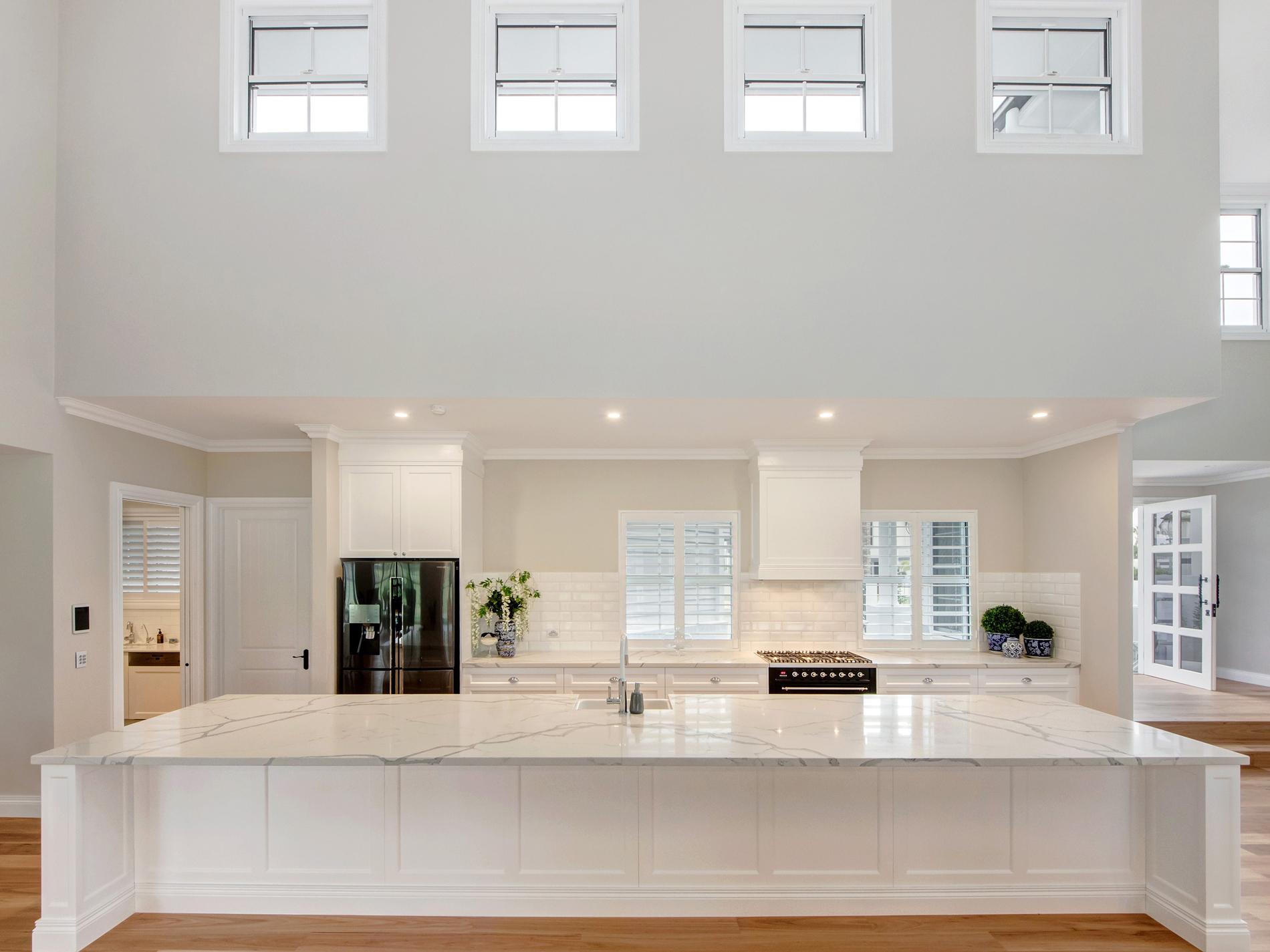 Beautiful Kitchen With Statuario Venato Exudes