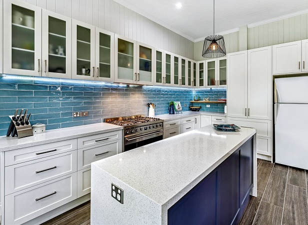kitchen benchtop in Smartstone Astral