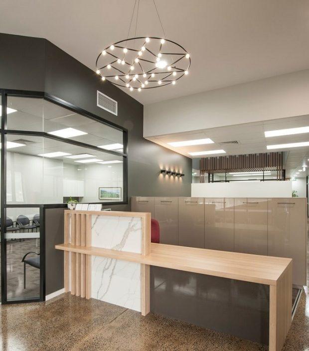 engineered stone for reception counter Smartstone Calacatta Manhattan