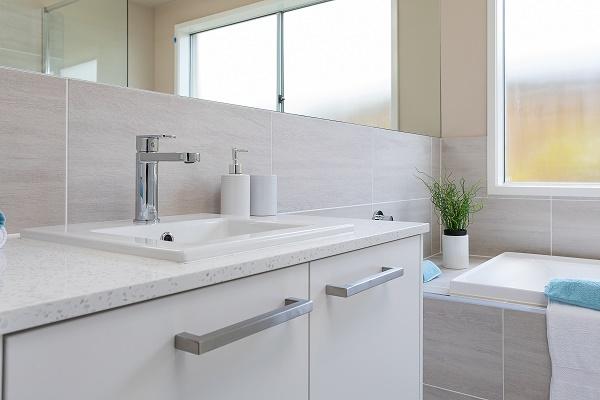 vanity countertop in Smartstone Santorini