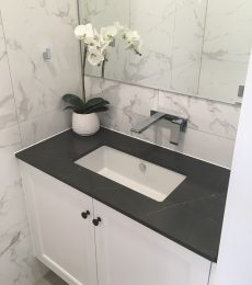 bathroom vanity with Smartstone Petra Grigio