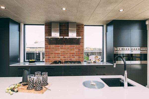 kitchen benchtop in Smartstone Ceniza