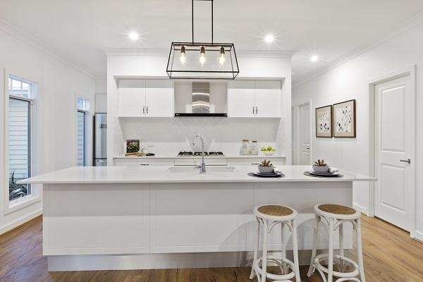 Gj Gardner-kitchen island bench in Smartstone Astral #smartstone #kitchen #renovation #kitchenideas #kitchendesign #renovationideas #renovationkitchen