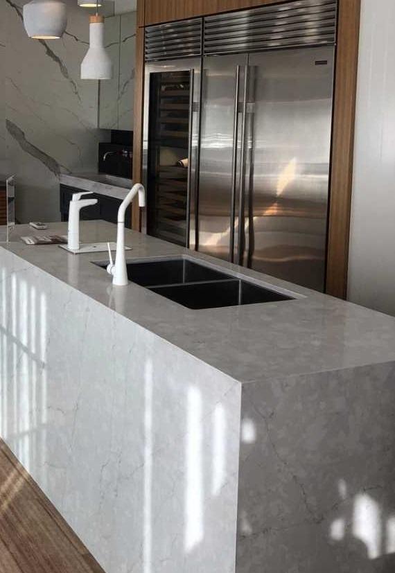 Smartstone Grey Quartz Benchtop Concreto