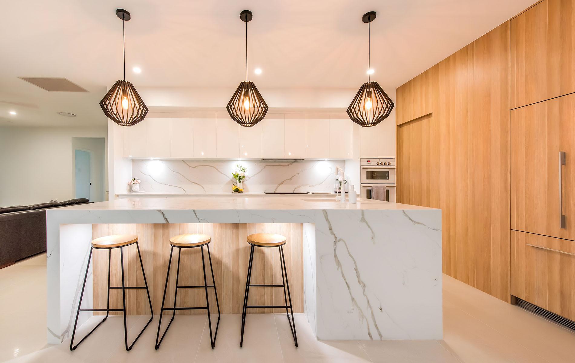 Kitchen benchtop with Smartstone quartz in Queensland
