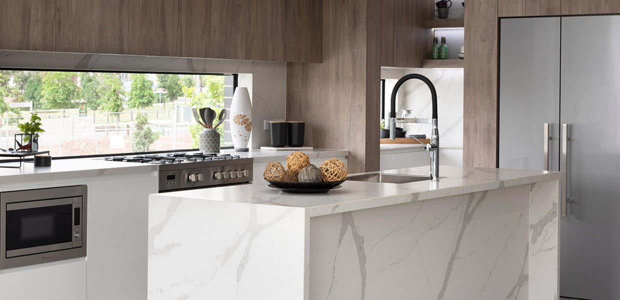 Stylish, honed-stone style now comes with Smartstone substance.