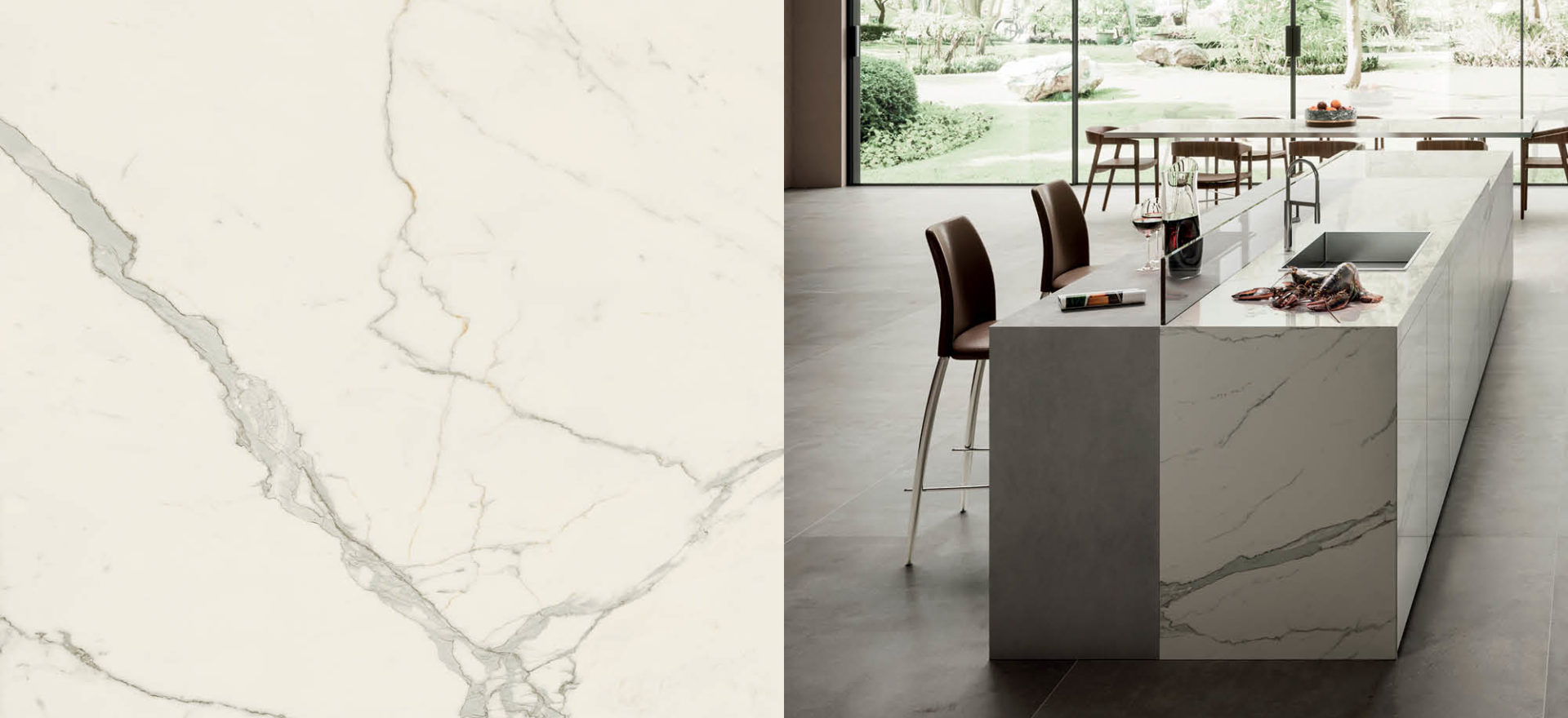Calacatta Extra | Marble Look Porcelain | large format panels