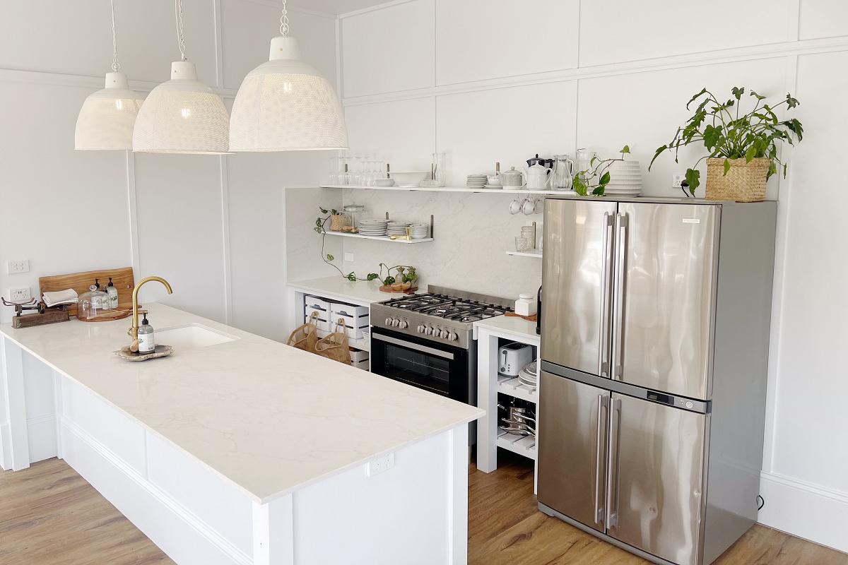 kitchen with Smartstone Bianco Onix benchtops