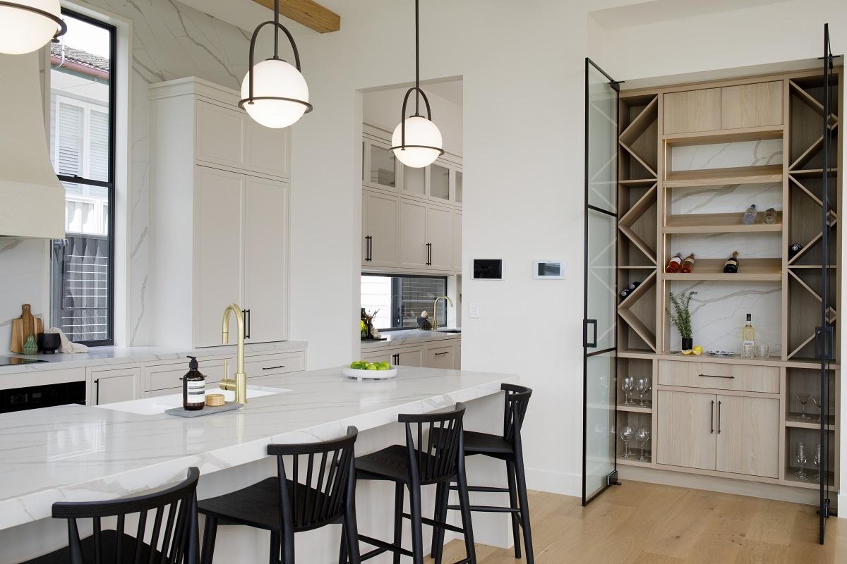 Kitchen with Smartstone Calacatta Manhattan