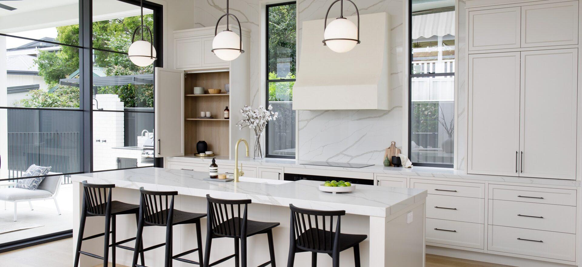 Smartstone kitchen island and splashback